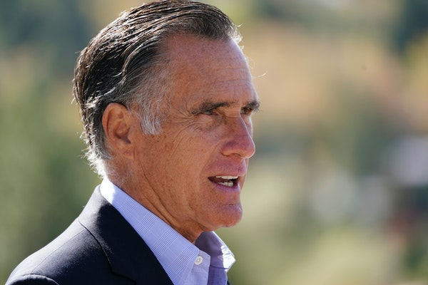 Sen. Mitt Romney, R-Utah, was named the winner of the Profile in Courage Award on Friday, March 26, 2021, for splitting with his party and becoming th