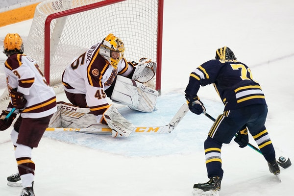 Michigan played the Gophers in Minneapolis on March 6.