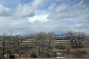 The Rockies in the background from Loveland, Colo.