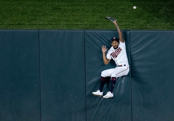 Byron Buxton has gotten plenty familiar with the padding on the outfield walls at Target Field over the years, such as on this play last year when he