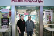 Maricela and Zef Gallarzo at their Planet Smoothie shop on the ground floor of Gaviidae Common.    brian.peterson@startribune.com Minneapolis,  MN  Tu