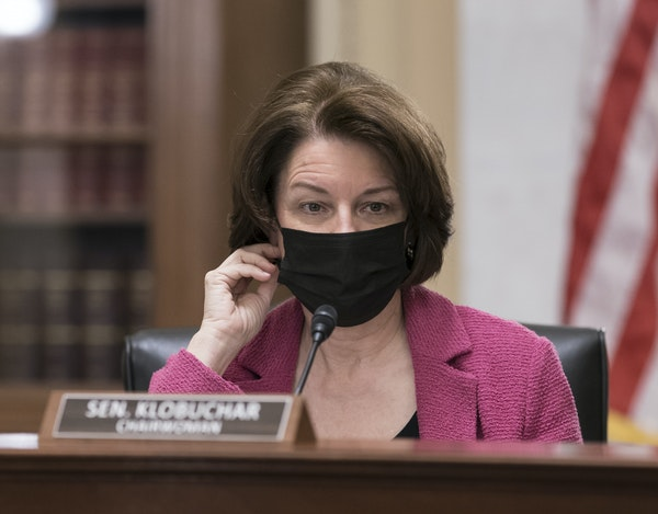 """U.S. Sen. Amy Klobuchar, D-Minn., takes a hard-line view of corporate monopolies in her book """"Antitrust,"""" due out in April."""