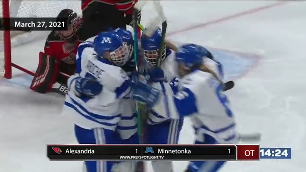 Highlights: Minnesota state girls' 2A hockey quarterfinals