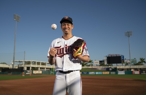 Kenta Maeda, in his second season pitching for the Twins, will be on the mound when the team opens its season Thursday at Milwaukeee.