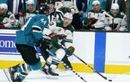 Nick Bonino will play on a new line Monday when the Wild takes on the Sharks in San Jose.