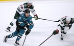 The Wild opened a four-game road trip Monday with a 4-3 shootout loss to the Sharks.