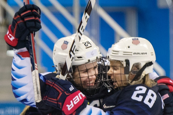 Olympic gold medalists and former Gophers Dani Cameranesi, left, and Amanda Kessel are part of the U.S. World Championship roster.