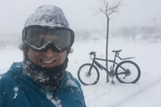 Brett Feldman has ridden his bicycle for 1,826 consecutive days, including through snowstorms and subzero weather.