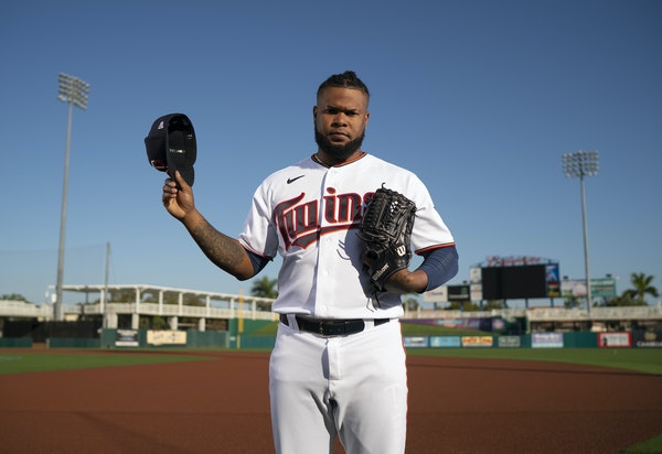 Minnesota Twins relief pitcher Alex Colome (48) in a portrait made on the team's Spring Training Photo Day.   ]  JEFF WHEELER • jeff.wheeler@start