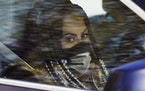 """Jen Shah, a cast member from the reality series """"The Real Housewives of Salt Lake City"""" looks on while being driven from the federal courthouse Tu"""
