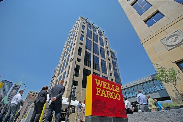 Wells Fargo employees will be back in their offices in early September. The company is one of the largest employers in downtown Minneapolis. File phot