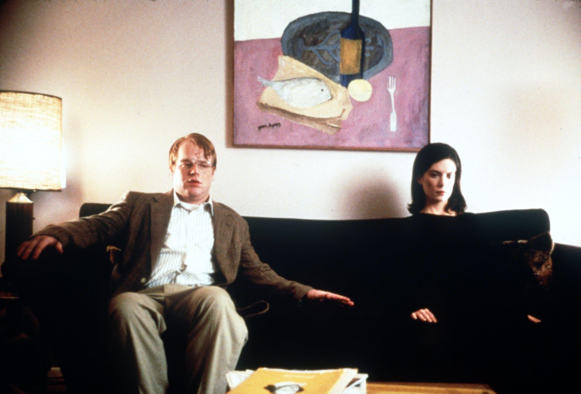 Philip Seymour Hoffman and Lara Flynn Boyle in 'Happiness.'