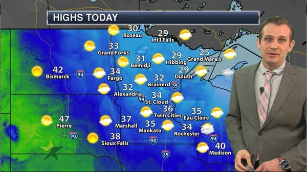 Afternoon forecast: 36, increasing clouds, breezy and dry