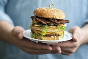 The Dirty Secret is J. Selby's plant-based version of the Big Mac.
