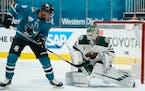 Wild rookie goalie Kaapo Kahkonen will start Wednesday against the Sharks.
