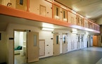 An empty module in the Hennepin County Juvenile Justice Center in Minneapolis.