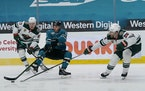 The Wild suffered its second loss on this road trip Wednesday, falling 4-2 to the Sharks.
