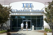 This file photo shows an ITT Technical Institute campus in California. (AP Photo/Rich Pedroncelli)