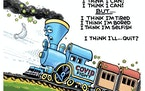 Sack cartoon: The little engine that ... quit?