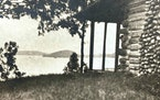 An old family photo shows the original cottage on Gull Lake.