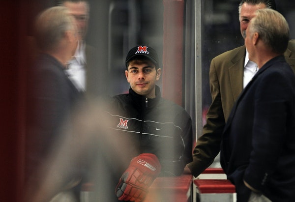 Miami (Ohio) hockey coach Enrico Blasi, in 2009.