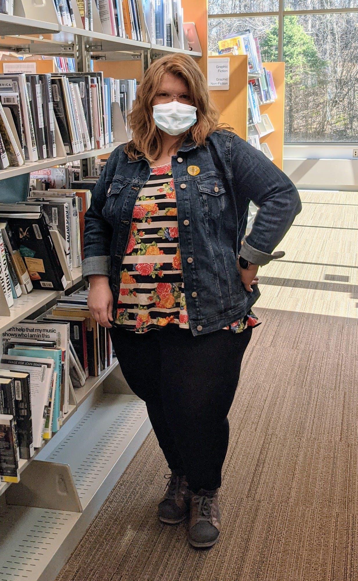 The pandemic inspired librarian Deborah Bifulk to adopt a new workwear 'uniform' of leggings and tunics.