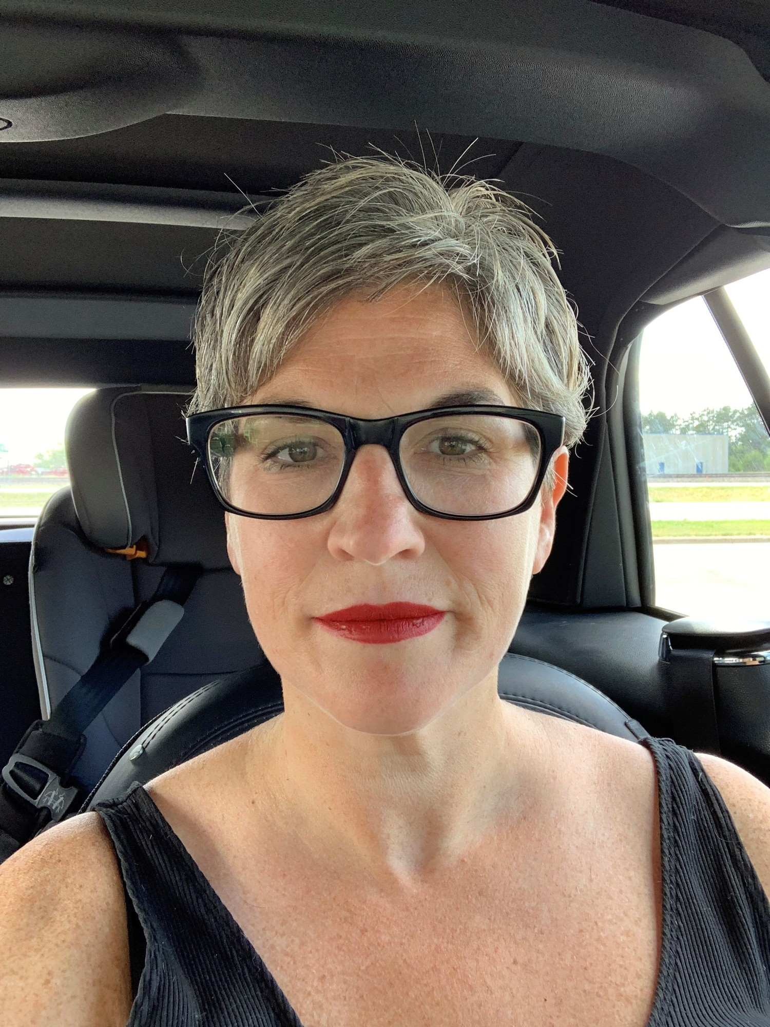 Jamie Hurewitz stopped dying her hair during COVID and hopes to continue wearing her natural gray.