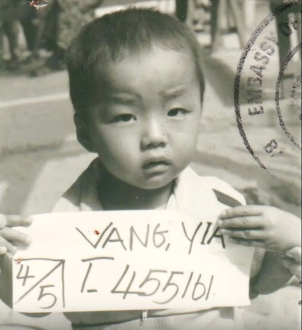 Chef Yia Vang as a child in Vinai refugee camp.