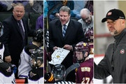Mike Hastings, Scott Sandelin and Brett Larson are good friends competing for the Frozen Four title.
