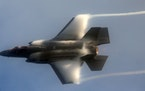 The F-35 Lightning II Demo Team performed at the Fort Lauderdale Air Show in Florida in November 2020.
