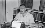 Ernest Hemingway at home in Cuba in the late 1940s.