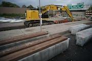 A road construction project along Interstate 94 in Minneapolis. Richard Tsong-Taatarii¥Richard.Tsong-Taatarii@startribune.com