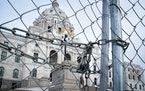 Due to COVID restrictions, the Minnesota State Capitol remained fenced off to the public Jan. 4, the day before the start of the 2021 regular session