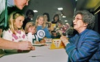 Beverly Cleary signed books at the Monterey Bay Book Festival in Monterey, Calif., in 1998.