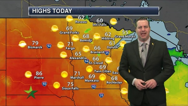 Morning forecast: High of 69, sunny and mild