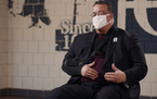 Jonathan Palmer, executive director of the Hallie Q. Brown Community Center, in a screen grab of a video produced by M Health Fairview regarding vacci