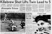 The Twins received top bill in the next day's paper after knocking off the Yankees in dramatic fashion on July 11, 1965