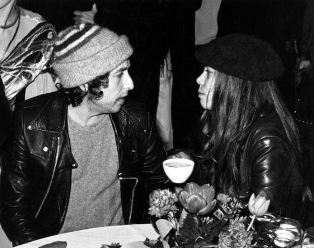 Jones with Bob Dylan.