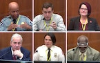 Witnesses who testified so far in the Derek Chauvin trial include, clockwise from top left: Minneapolis Police Chief Medaria Arradondo; HCMC Dr. Bradf