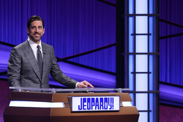 Aaron Rodgers has fun at his own expense while hosting 'Jeopardy!'