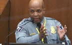 Minneapolis Police Chief Medaria Arradondo testifies on Monday in the trial Derek Chauvin.