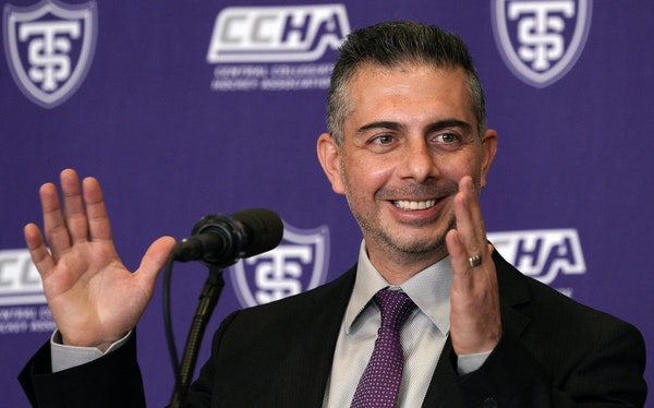 New St. Thomas men's hockey coach Rico Blasi was introduced on the St. Paul campus Tuesday afternoon. brian.peterson@startribune.com St. Paul,  MN T