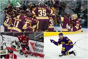 Local flavor: St. Cloud State will meet Minnesota State, and Minnesota Duluth will face UMass in Thursday's Frozen Four semifinals in Pittsburgh.