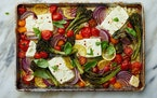 Recipes like Feta with Broccolini, Tomatoes and Lemon provide a hands-off approach to meals.