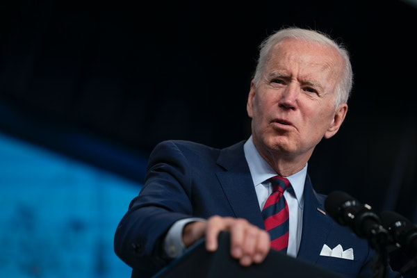 President Joe Biden speaks during an event on the American Jobs Plan in the South Court Auditorium on the White House campus, Wednesday, April 7, 2021