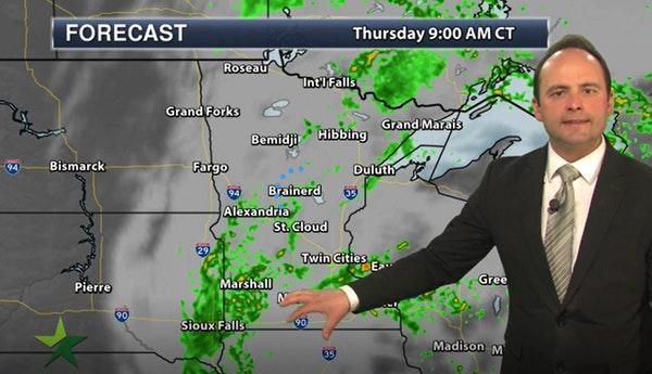Evening forecast: Low of 53, with more rain and clouds ahead