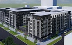 The proposed Lexington Station apartments in St. Paul