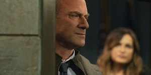 Christopher Meloni as Detective Elliot Stabler, Mariska Hargitay as Captain Olivia Benson