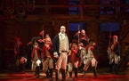 Lin-Manuel Miranda, center, is the creator, composer and original title character in the hit musical 'Hamilton,' shown here in the 'Yorktown'