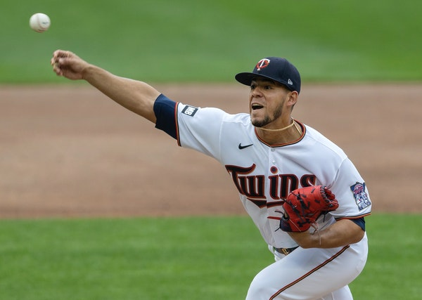 Twins starting pitcher Jose Berrios in the third inning.